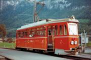 Meiringen-Innertkirchen-Bahn MIB, Meiringen 1982