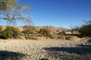 Naukluft-Gebirge mit einem Rivier. Gästefarm Ababis.