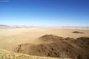 Ausläufer der Namib-Wüste. Gästefarm Ababis.
