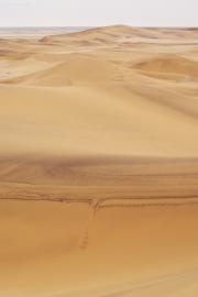Magnetithaltige Sanddüne in der Namib-Wüste bei Swakopmund
