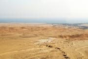Rand der Sand-Namib mit Mündung des Swakop bei Swakopmund. Flugaufnahme.