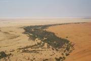 Rivier Kuiseb in der Namib-Wüste. Flugaufnahme.