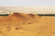 Sanddüne am Rivier Kuiseb in der Namib-Wüste. Flugaufnahme.