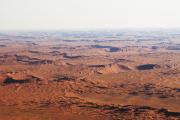Sanddünen in der Namib-Wüste. Flugaufnahme.