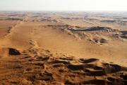 Dünenmeer der Namib-Wüste. Flugaufnahme.