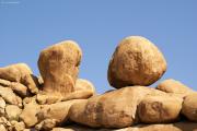 Granit-Kugeln bei der Spitzkoppe, durch Wollsack-Erosion entsanden