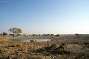 Okaukuejo Wasserstelle. Etosha National Park