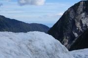 Franz Josef Glacier. Sicht aufs Meer (Tasman Sea)
