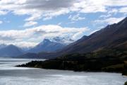 Mt. Earnslaw (2819müM). Lake Wakatipu vor Glenorchy
