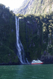 Milford Sound. Stirling Falls