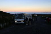 Sehr früh morgens am Start zum Tongariro Crossing (19.4 km)