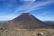 Mt. Ngauruhoe. Tongariro Crossing beim Red Crater