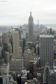 Midtown und Lower Manhattan mit Empire State Building. Top of the Rock/Rockefeller Center