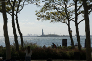 Statue of Liberty. Battery Park