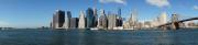 Lower Manhattan mit Brooklyn Bridge - Panorama