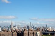 Brooklyn Bridge. Empire State und Chrysler Building, 432 Park Avenue.