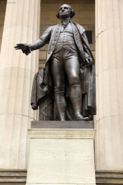 George Washington vor der Federal Hall, Wall Street
