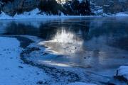 Schwarzgefrorener Oeschinensee