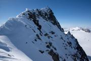 Aufstieg zum Piz Medel über den Glatscher da Medel. Gipfelgrat