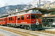 ABe 4/4 51 in St. Moritz. 1989