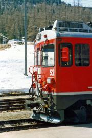 Front des ABe 4/4 52. Pontresina. 1989