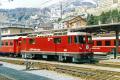 Ge 4/4 II 616 in St. Moritz. 1989