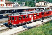 ABe 4/4 44 und ABe 51 in Pontresina. 1990