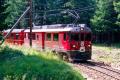 ABe 4/4 51 kurz vor Surovas. 1990