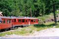 ABe 4/4 53 in der Montebello-Kurve. 1990