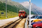 ABe 4/4 49 in Bernina Diavolezza. 1990