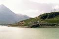 ABe 4/4 31 und 32 in der Bügliet-Bucht des Lago Bianco. 1990