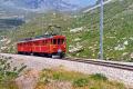 ABe 4/4 31 und 32 im Val dal Bügliet am Lago Bianco kurz vor Ospizio Bernina. 1990