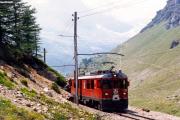 ABe 4/4 52 zwischen Alp Grüm und der Galleria Lunga. 1990