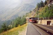 ABe 4/4 51 erreicht Alp Grüm. 1990
