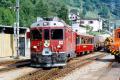ABe 4/4 52 erreicht Poschiavo. 1990