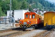 Ge 4/4 161 in Poschiavo. 1990