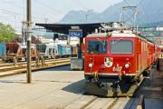 Ge 4/4 I 607 in Chur. 1990