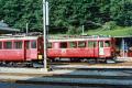 BDe 4/4 38 und ABe 4/4 36 in Poschiavo. 1990