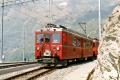 ABe 4/4 49 in Alp Grüm. 1990