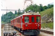 ABe 4/4 501 in Filisur. 1990