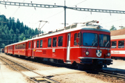 Be 4/4 513 in Reichenau-Tamins. 1990