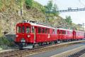 ABe 4/4 32 und 31 in Alp Grüm. 1991