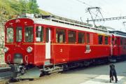 ABe 4/4 32 und 31 in Ospizio Bernina. 1991
