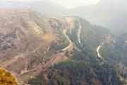 Alp Grüm vom Berggasthaus Sassal Mason aus. 1991