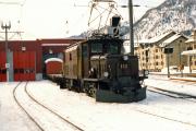 Ge 6/6 I 412 in Samedan. 1991