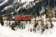 Ge 6/6 II 701 unterhalb Preda. 1991