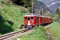 ABe 4/4 44 und ein weiterer TW II mit einem Bernina Express oberhalb Cadera. 2001