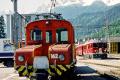 Ge 2/2 162 und dahinter ABe 4/4 56 in Poschiavo. 2001
