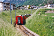 Bernina Express in der Schleife oberhalb Brusio. 2001