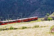 ABe 4/4 56 und 43 oberhalb Brusio. 2001